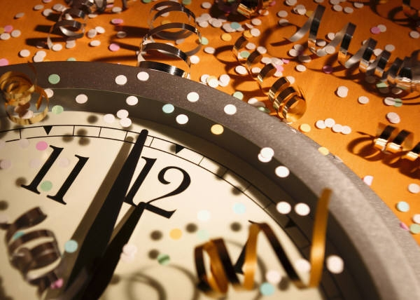 Clock Chiming in the New Year
