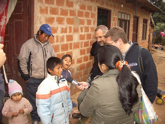 John Rakis from WPHN meeting his Compassion sponsored child David