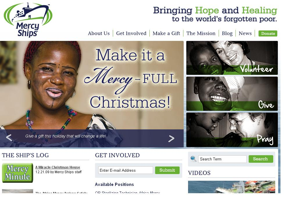 Mercy Ships® New Website